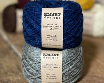Blue and Gray Harry Potter Inspired Fingering Weight Sock Yarn - 2 oz - 300 yards - Vegan 100% Acrylic