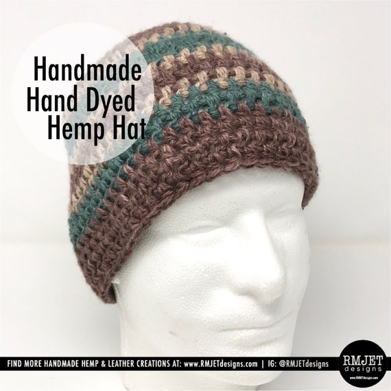 Handmade Hand Dyed Hemp Hat