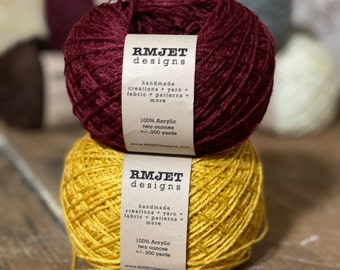 Gold and Red Harry Potter Inspired Fingering Weight Sock Yarn - 2 oz - 300 yards - Vegan 100% Acrylic