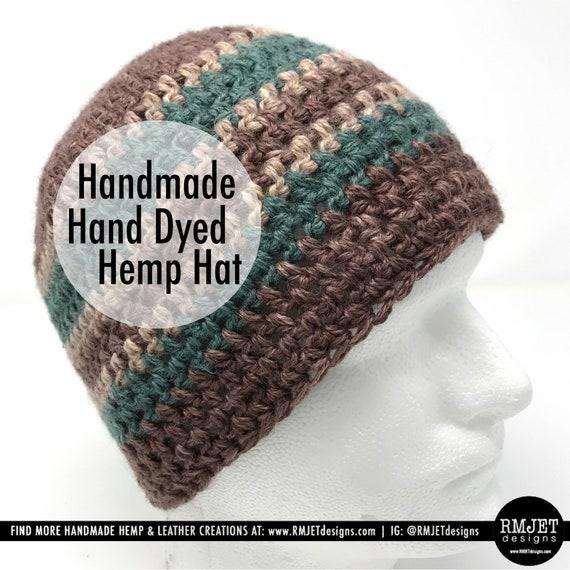 Handmade Hand Dyed Hemp Hat