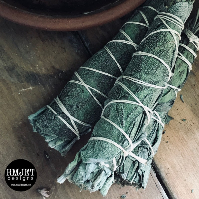 Dried SAGE Bundle  Organic  Home grown on our land  image 0