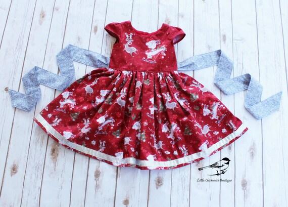 0c496d6b607f Girls Christmas dress Toddler Christmas dress Santa Christmas | Etsy