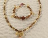 Handmade Beaded Necklace and Bracelet Set