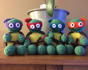 Made to order Crochet Teenage Mutant Ninja Turtles toys