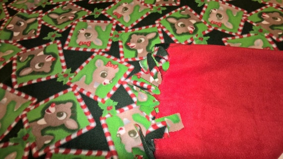 Rudolph the Red Nosed Reindeer No Sew Fleece Blanket  a73f14cfd
