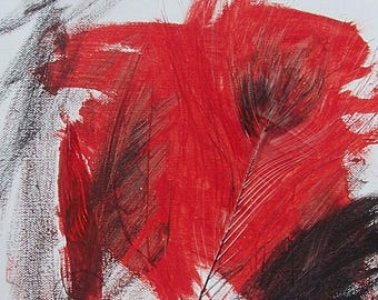 Phoenix Feather-Original Mixed Media