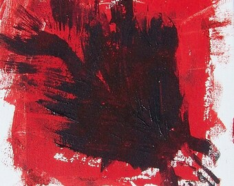 Blood in the Water-Original Acrylic on Canvas