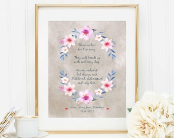 In Memory of a Loved One - Personalized - Sympathy - Loss - Grief - Passing - In Memory of Poem - Personalized Memorial - Loved One Poem