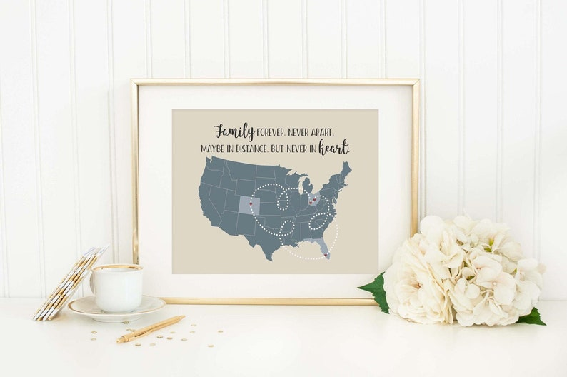 5257d1e499c29 Personalized State or World Map Long Distance Gift