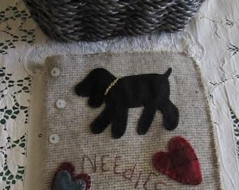 Primitive Folk Art Download E-Pattern Wool Applique Needlebook Pattern - Mary's Needlebook - Pinkeep - Embroidery Book