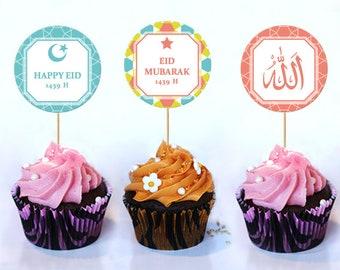 Mehndi Cake Toppers : Eid cupcake topper etsy