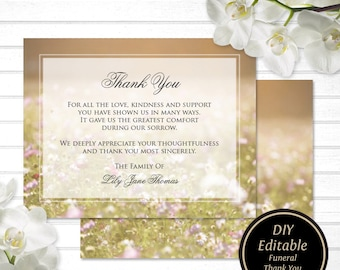 Funeral Thank You Etsy