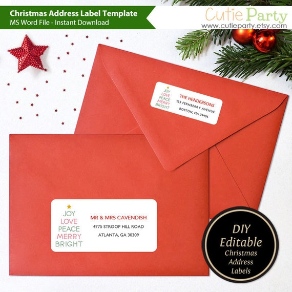 Holiday Return Address Labels Template from i.etsystatic.com