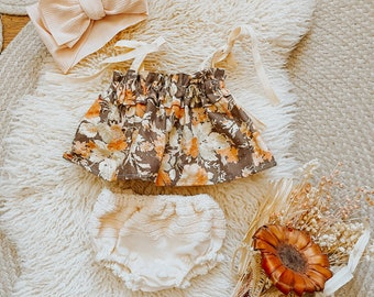 The  GEMMA crop top and bloomers