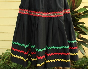 1e541bc226 High Quality Caribbean Skirt - Rasta Shirt - Costume Skirt - Festival Skirt  - Burning Man - Burner Style - Salsa Costume - Dancing Skirt