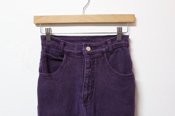 90s Purple Jeans - Size 24 Vintage Jeans - Vintage
