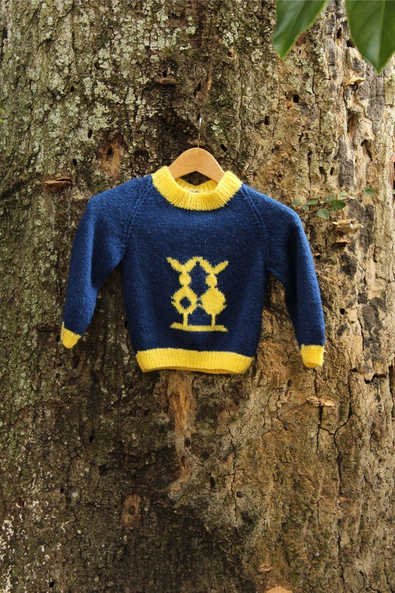 80s Abstract Bunny Sweater - Handknit Fuzzy Sweate