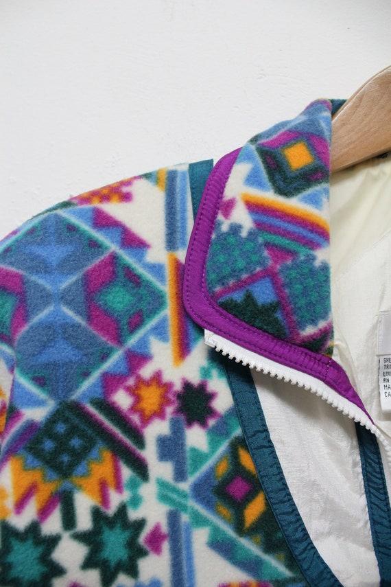 90s Fleece Windbreaker - 90s Fleece Track Jacket … - image 5