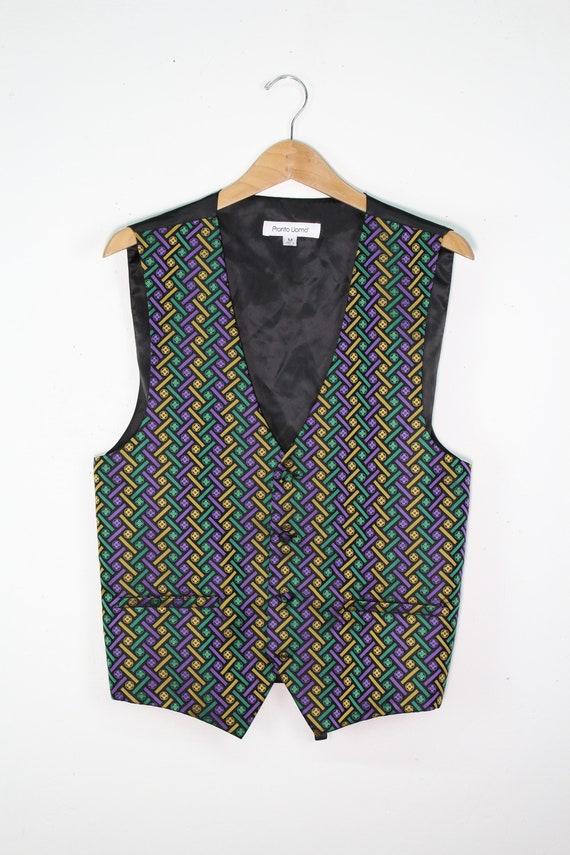 Mens Heady Mardi Gras Vest - Mens Eveningwear - Co