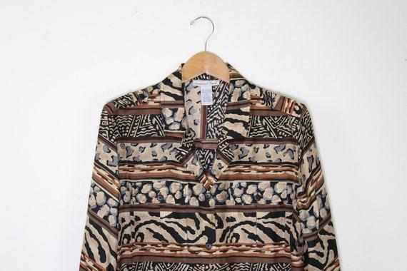 Vintage Silk Animal Print Shirt - Vintage Silk But