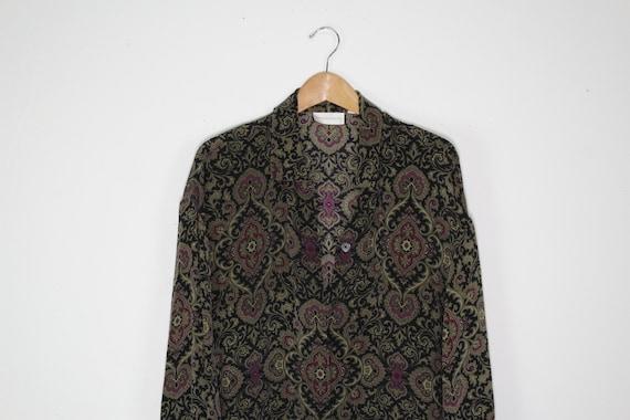 Vintage Silk Button Up Shirt - Vintage Silk Shirt