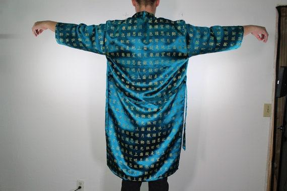 Chinese Lettering Silk Robe - Asian Festival Robe