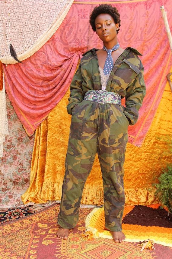 Vintage Camo Jumpsuit - Camo Military Jumpsuit - U