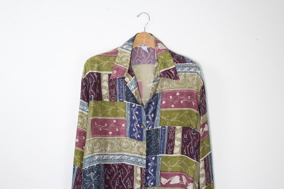 Vintage Silk Contemporary Print Shirt - Vintage Si