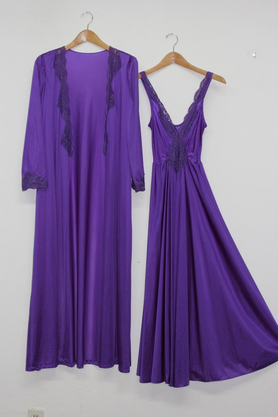 70s Purple Matching Lounge Set - Vintage Purple Ro