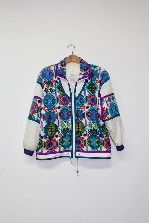 90s Fleece Windbreaker - 90s Fleece Track Jacket … - image 3