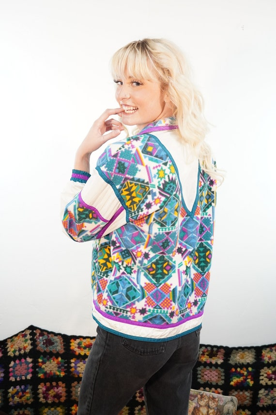 90s Fleece Windbreaker - 90s Fleece Track Jacket … - image 2
