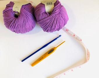Cotton organic yarn 100% baumwolle cotton 50gm . High quality yarn for crocheting knitting, purple cotton yarn