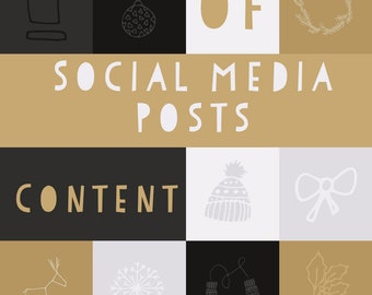 Downloadable Social media content, 31 days of content for social media posts, unique ideas, content planner