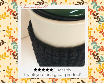 Cozy  , multiple colors Cozy , Coffee Cup Cozy Cup Sleeve , Tea Cozy, Crochet Coffee Sleeve, Reusable Coffee Cozy, Eco friendly cup cozy