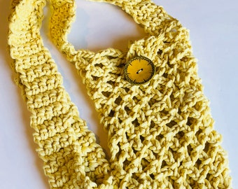 Beach bag. Ready to Ship market bag, yellow crocheted handbag , chic accessories, yarn bag, knitting project bag, Ecofriendly bag