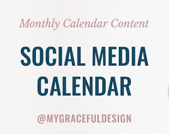Social media content, customizable post ideas, content calendar, marketing calendar, cool post ideas, content planner