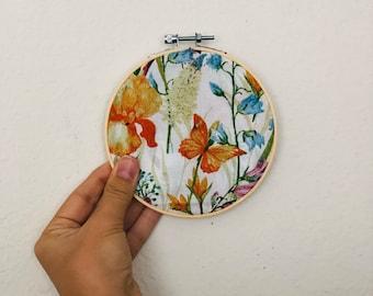 Hoop wall art, hoop wall hanging,floral wall decor, housewarming gifts,butterflies hoop wall art,hoops decoration, hoop flowers, floral hoop
