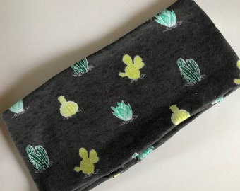 Headband, cactus print headbands , hair style, green and yellow headband, workout hair, nonslip head cover