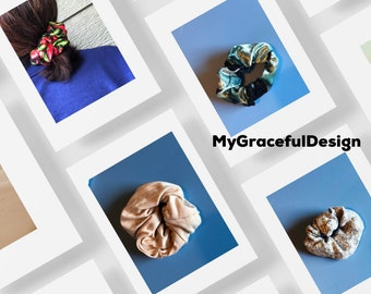 Scrunchies , holiday  scrunchies, stocking stuffers, Christmas gift ideas , hair Ties, vsco girl gift, workout, hair fashion
