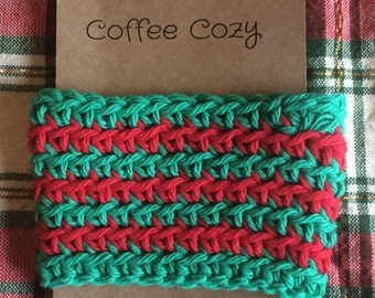 Red Green Christmas Holiday Gift Cup Cozy Coworker gift Stocking Stuffer Holiday gift ideas