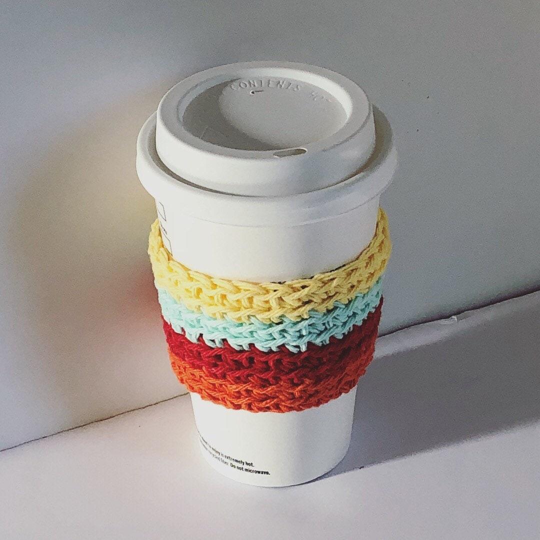 Cozy Summer Colors Cozy Simple Cup Sleeve Crochet Coffee Sleeve