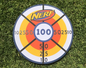 photo about Nerf Targets Printable titled Nerf goals Etsy