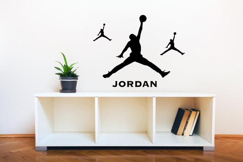 the best attitude bdabd 4873e Michael Jordan wall decal-Jumpman decal Basketball Wall Art   Etsy