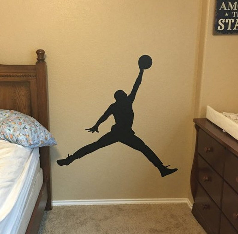new styles 5d02b fa943 Michael Jordan Wall Decal Basketball Wall Decal-Jump man   Etsy