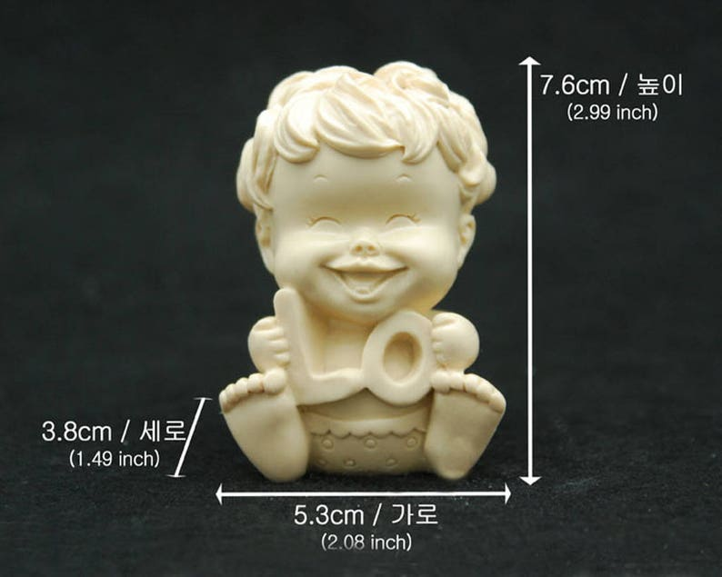 LOVE baby #1 Silicone Candle molds Ornament Candle Soap Moulds Fondant Mold Polymer Clay Soap Making Tools Melting Wax Resin