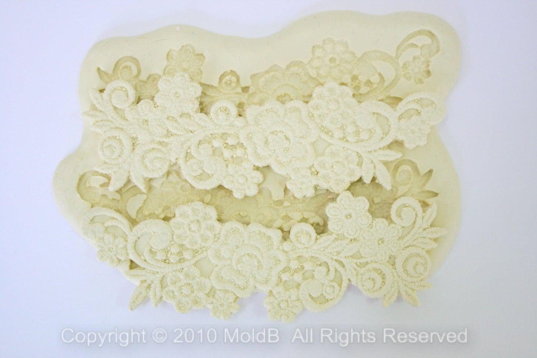 Silicone Lace Mould Sugarcraft Mold Fondant Molds Sugar Veil | Etsy