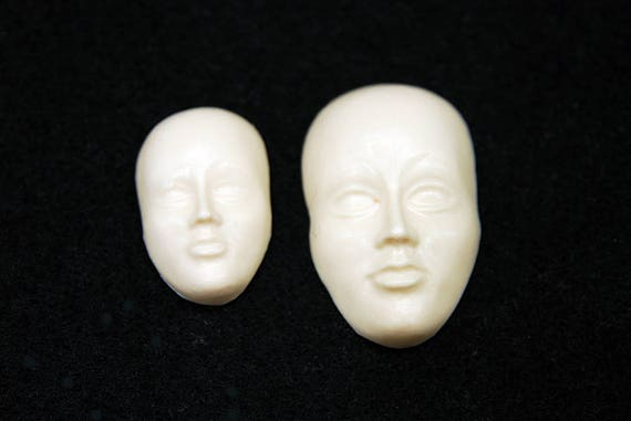 2D Face SET Silicone Mold Candle Chocolate Polymer Clay Jewelry Soap Wax Resin