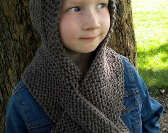 Knit Hooded Scarf Etsy