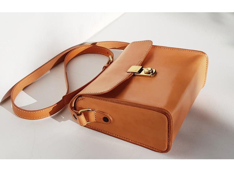 4ab21922e34e Mini Structured Purse Leather Crossbody Small Boxy Bag Flap