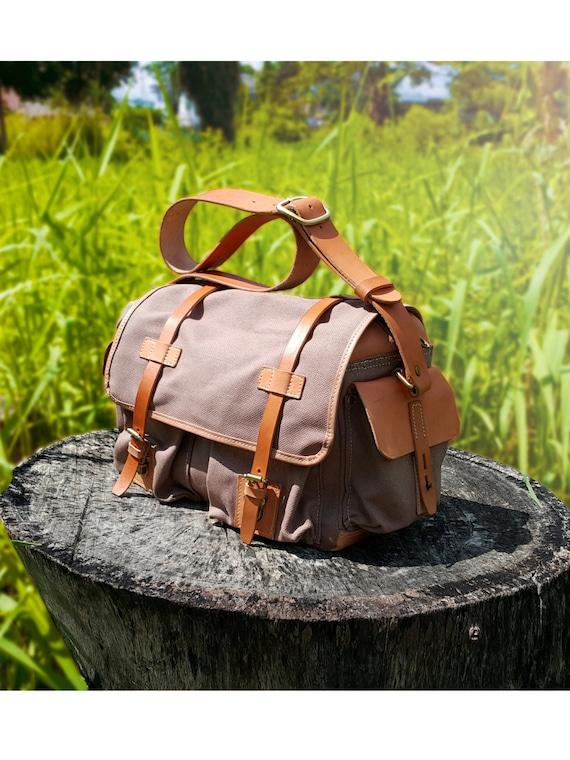 27a5be9af5 Mens Messenger Bag Canvas Leather Crossbody Bag Canvas